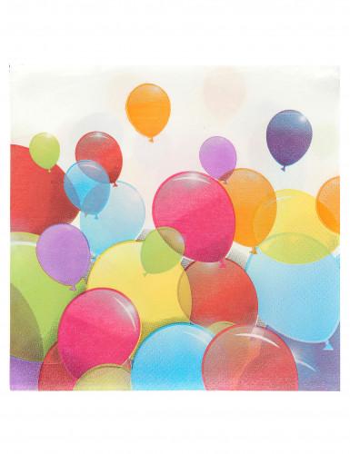 20 Papier Servietten - Luftballons