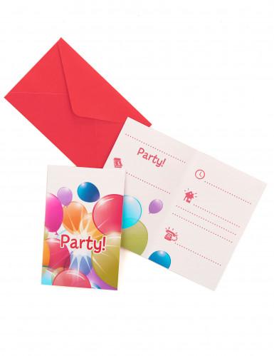 Einladungskarten mit Briefumschläge - Luftballons