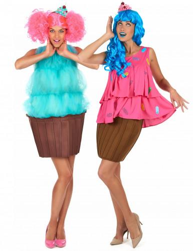 Muffin-Cupcake Paarkostüme für Damen bunt