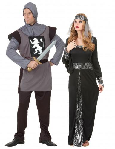 Mittelalterliches Paarkostüm für Erwachsene