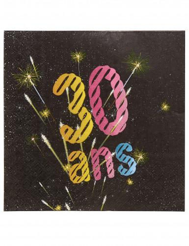 20 Papiertücher 30 Jahre mit Feuerwerk-Motiv, 33 x 33 cm
