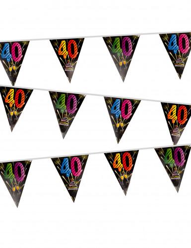 Wimpel-Girlande - Feuerwerk - Zahl 40