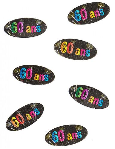 80 Tisch-Konfetti aus Papier 60. Geburtstag Feuerwerk