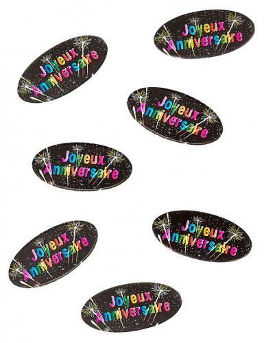 80 Tisch-Konfetti aus Papier zum Geburtstag Feuerwerk-Motiv