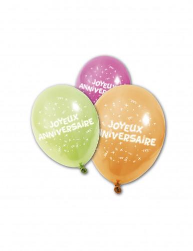 8 Alles Gute zum Geburtstag Luftballons 25 cm