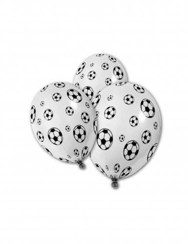 5 Fußball Luftballons