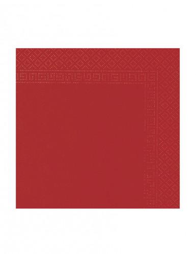 50 rote Papier Servietten