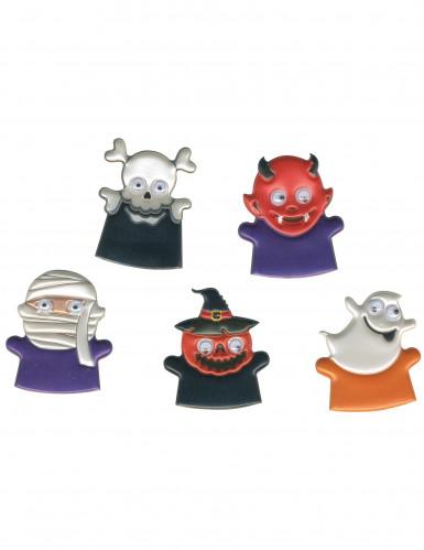 Gruselige Fingerpuppen im Halloween-Design