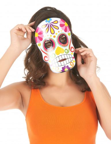 3 Dia de los Muertos Masken für Halloween bunt-1