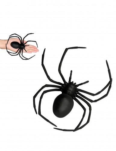 Schwarze Spinne aus Kunststoff für Halloween, 18 x 15 cm