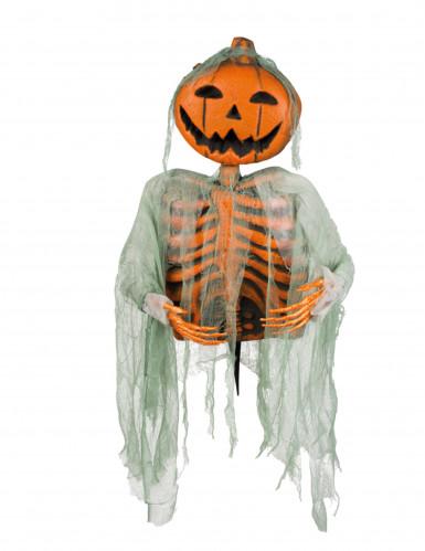 halloween deko skelett mit k rbiskopf 52 cm partydeko. Black Bedroom Furniture Sets. Home Design Ideas