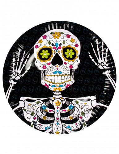 6 Pappteller Dia de los Muertos 23 cm