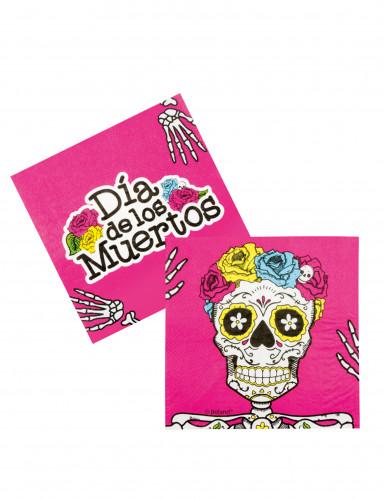 12 Papierservietten Dia de los muertos, 33 x 33 cm