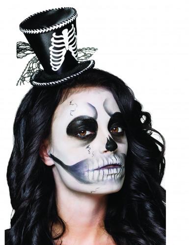 Kleiner Skelett Zylinder Halloween für Damen
