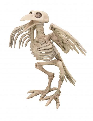 Gruseliger Skelett-Vogel beige 19,5cm