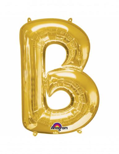 Aluminium-Ballon Buchstabe B goldfarben 33 cm