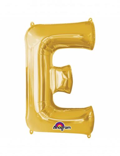 Aluminium-Ballon Buchstabe E goldfarben 33 cm