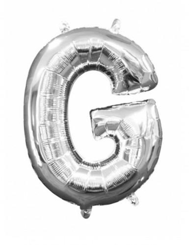 Aluminium-Ballon Buchstabe G silber 33 cm
