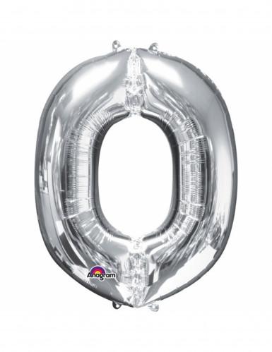 Aluminium-Ballon Buchstabe O silber 33 cm