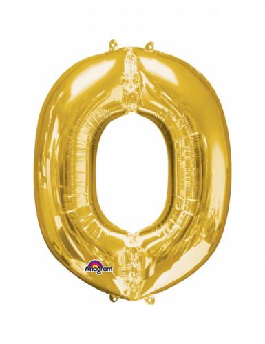 Aluminium-Ballon Buchstabe O goldfarben 33 cm
