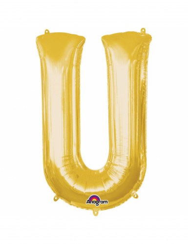 Aluminium-Ballon Buchstabe U goldfarben 33 cm