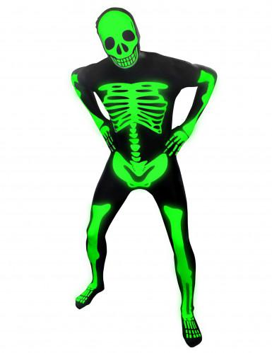 Leuchtendes Skelett Morphsuits™ Kostüm für Kinder