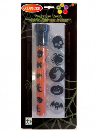 Halloween-Taschenlampe mit verschiedenen Aufsätzen