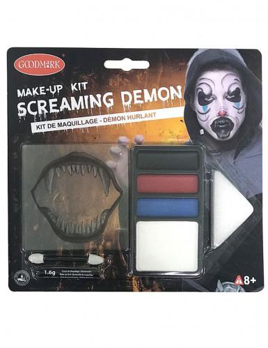 Halloween-Schminkset schreiender Horror-Clown