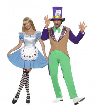 Hutmacher Kostüm und Wunderland Mädchen Kostüm