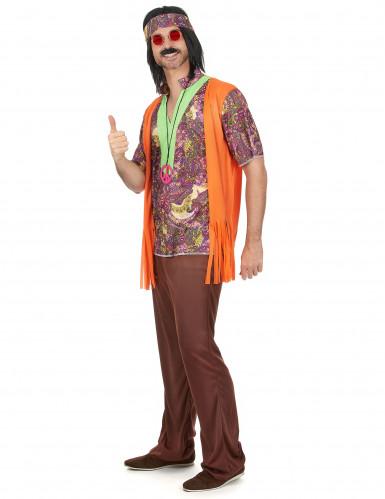 Hippie 70er Jahre Paarkostüm bunt-1