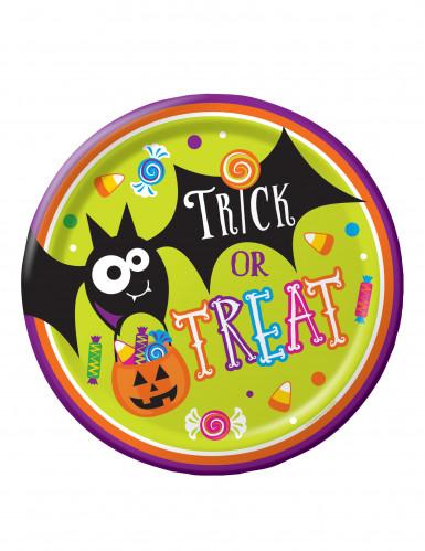8 Trick or Treat Pappteller für Halloween 23 cm