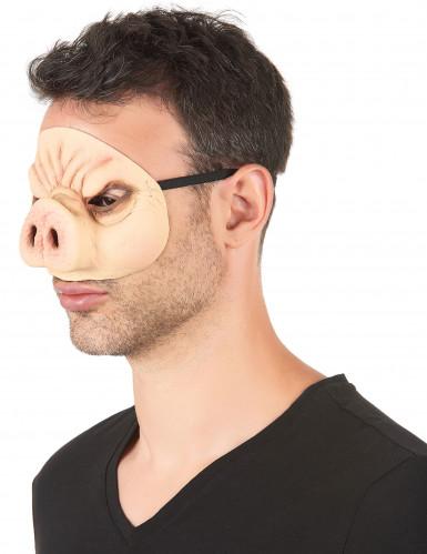 Schweinsmaske aus Latex-1