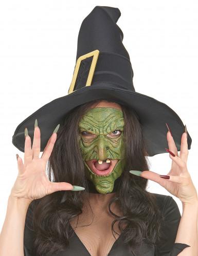 Grüne Hexenmasken aus Latex-1