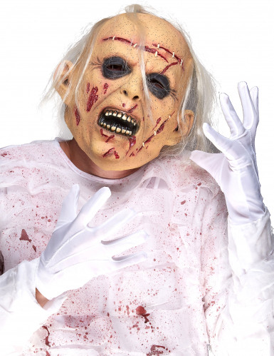 Latex-Maske sterbender Greis