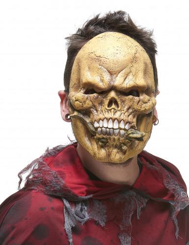 Skelett-Maske aus Latex mit Eidechse-1