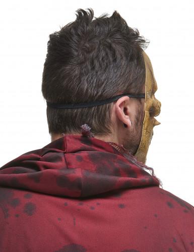 Skelett-Maske aus Latex mit Eidechse-2