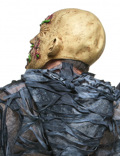 Zombie-Maske mit Maden-1