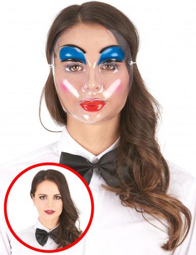 Transparente Puppen-Maske geschminkt