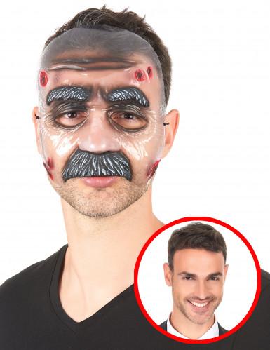 Transparente Maske mit Bart