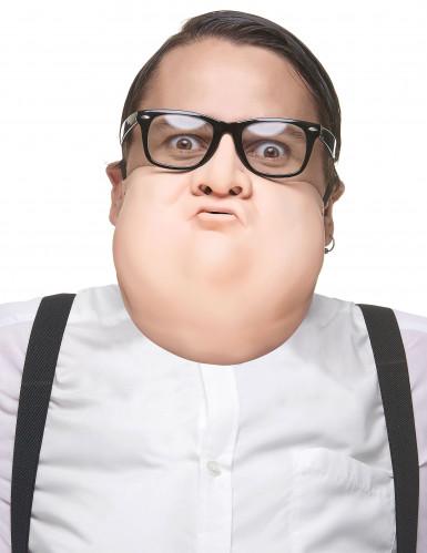 Halbmaske dicker Mann aus Latex für Erwachsene
