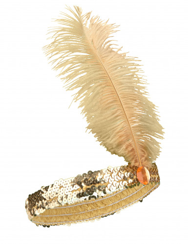 Charleston Feder-Stirnband mit Pailletten für Damen