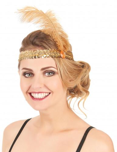Charleston Feder-Stirnband mit Pailletten für Damen-1