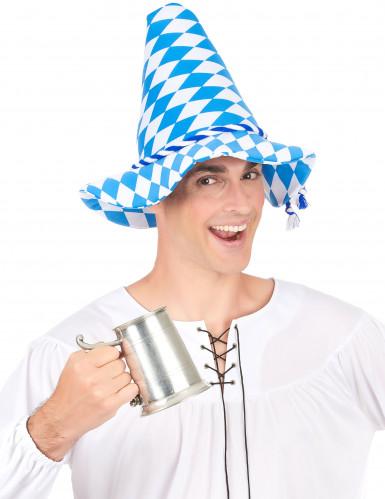 Bayern-Hut für Erwachsene blau-weiß-2