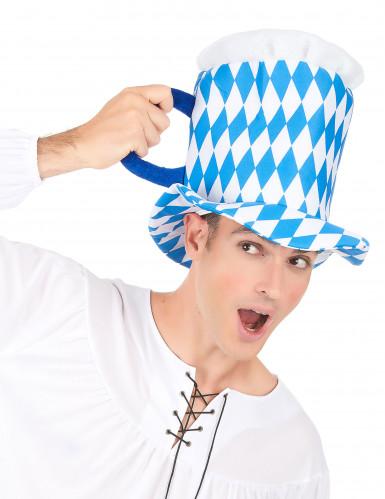 Maßkrughut weiß blau für Erwachsene-2