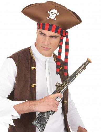 Brauner Piratenhut für Erwachsene-2