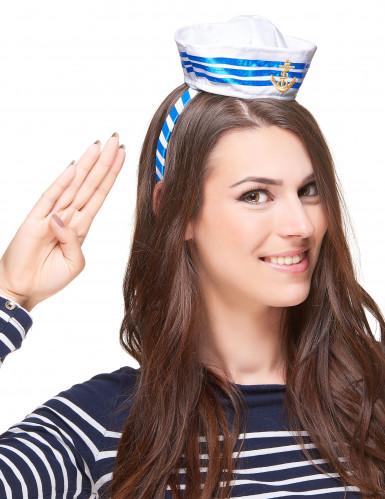 Matrosin Haarreif mit Minihut für Damen