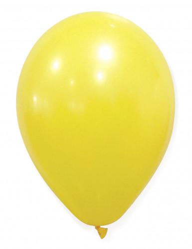 50 gelbfarbene Luftballons