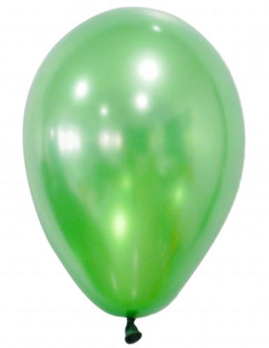 50 Luftballons - metallic grün