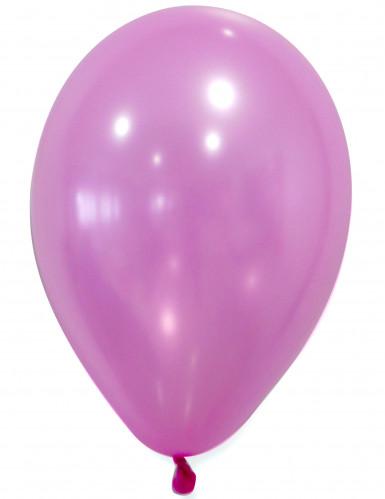 50 Metall-rosafarbende Luftballons