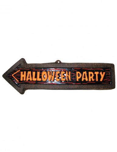 Halloween-Wanddekoration Wegweiser zur Party, 57 x 19 cm